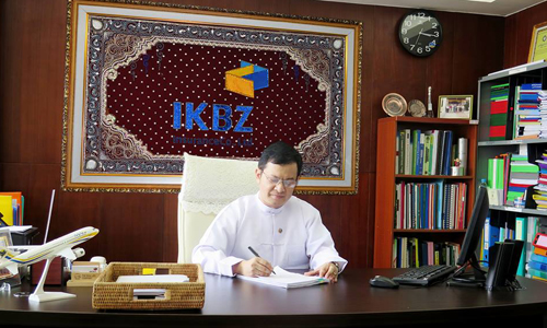 IKBZ Insurance  ကုမၸဏီလီမိတက္မွ  Chief Financial Officer     ဦးေနမ်ဳိးေအာင္   အား ေတြ႕ဆုံေမးျမန္းျခင္း