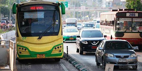 ဘန္ေကာက္ရွိ BRT ဘတ္စ္ကားမ်ား ေျပးဆြဲမႈ ဧၿပီလကုန္တြင္ ရပ္ေတာ့မည္