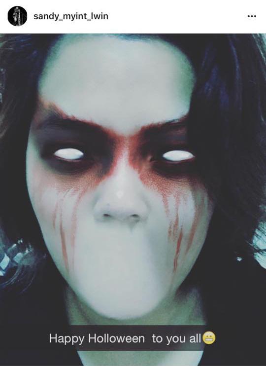 အဆိုေတာ္ စႏၵီၿမင့္လြင္ ရဲ႕ Halloween ဖက္ရွင္