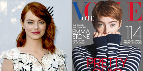 Vogue Cover အတြက္ Emma Stone ဆံပင္ပုံစံ ေျပာင္းလိုက္ၿပီ