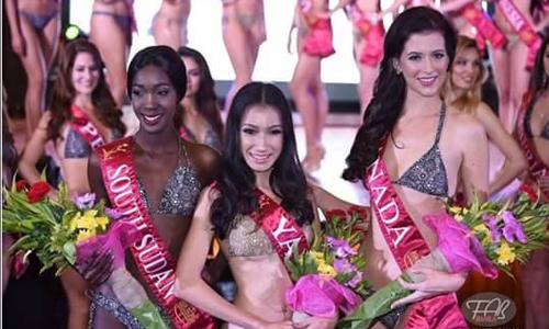 ဖိလစ္ပုိင္ႏုိင္ငံမွာ က်င္းပခဲ့တဲ့ Miss Asia Pacific International 2016 ၿပဳိင္ပြဲမွာ Darling of the Press Winner  ဆု  ရ  ရွိ  သူ ေနျခည္လင္း
