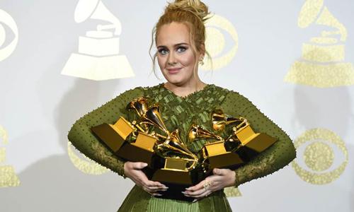 2017 Grammy Awards  မွာ ဆု ၅ ဆု သိမ္းပိုက္ခဲ့တဲ့ Adele