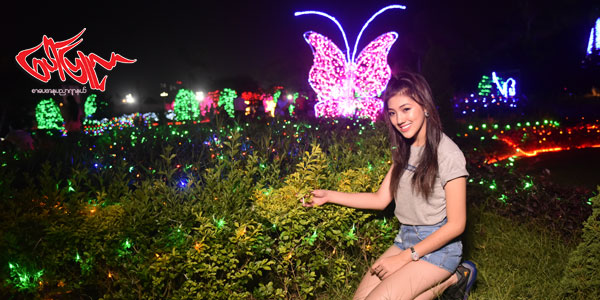 Lighting Festival နဲ႔ အလွမယ္ ျပည့္၀တီေမာင္ ရဲ႔ အလွပံုရိပ္မ်ား