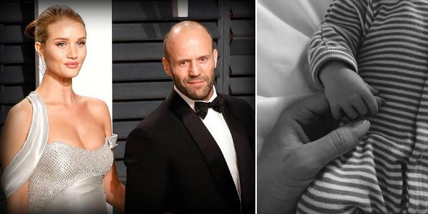 ပထမဆုံးရင္ေသြးေလးကုိ ႀကိဳဆိုလုိက္တဲ့ Jason Statham န႔ဲ Rosie Huntington