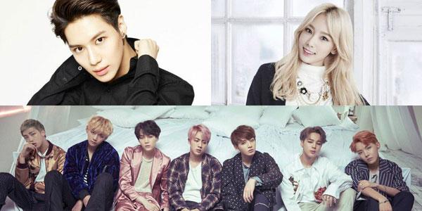 Billboard &JY World Albums' Chart မွာပါ၀င္ခဲ႔တဲ႔ BTS ၊ Taeyeon ႏွင္႔ Taemin