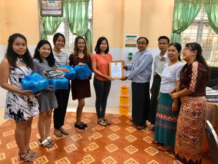 Protect Against COVID -19 Education Road Show Program and product donation by BRAND'S Myanmar