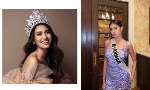 Miss Universe ပြိုင်ပွဲကြီးမှာ 'သူငယ်တော် ရဲ့ယုံကြည်ရာ ပစ်တိုင်းထောင်' ဝတ်စုံကို ဝတ်ဆင်ခွင့် မရတော့တဲ့ အလှမယ် သူဇာဝင့်လွင်