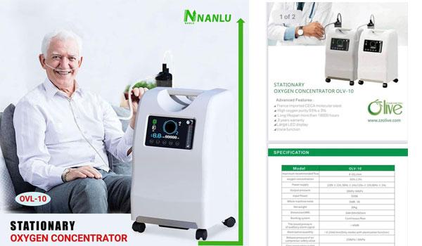Medical Grade အောက်ဆီဂျင်စက် အလုံး ၅၀ အား Nan Lu Garment and Distribution မှငှါးရမ်းမည်