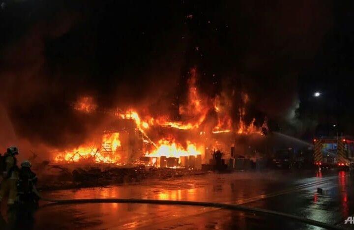ထိုင်ဝမ်နိုင်ငံတွင် မီးလောင်ကျွမ်းမှုကြောင့် ၄၆ဦးသေဆုံး